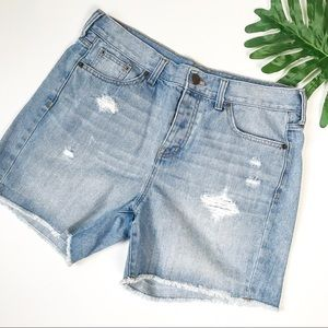 J.Crew Factory Distressed Denim Shorts Size 28